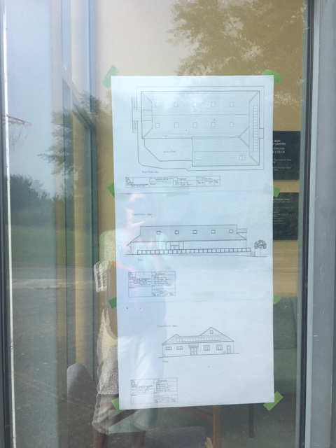 Hall plans on display