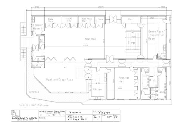 Hall plans in detail