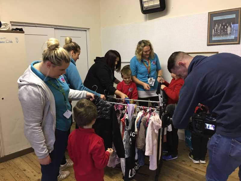 Pupils enjoy TV crew visit to Dillad Dwywaith